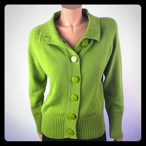 Bianca Nygard green knit button down cardigan Sz M